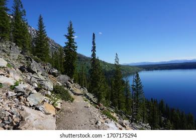 Trail along Jenny Lake - Grand Teton National Park - Wyoming (USA)