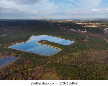 Höhe See Luftbild auf Landschaften Panoramablick