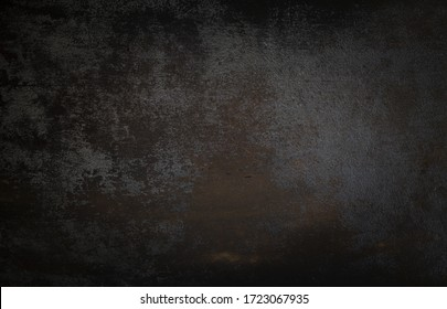 dark wall background. Empty workplace, in front of an abstract package.