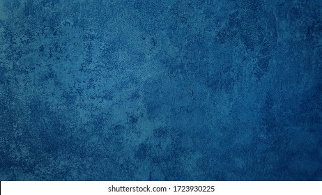Hermoso fondo de pared de estuco azul sucio abstracto en estado de ánimo frío. Pantone del año fondo de concepto de color con espacio para texto.