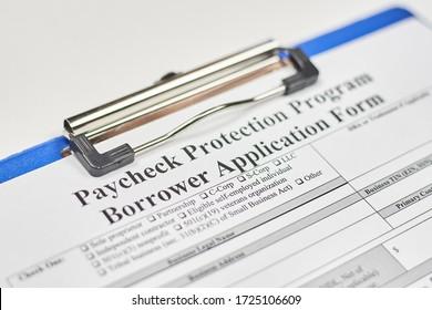 Anmeldeformular. Antragsformular für Kreditnehmer des Gehaltsscheckschutzprogramms