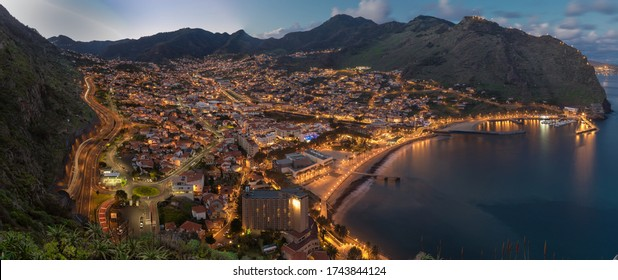 The town of Machico on Madeira Island