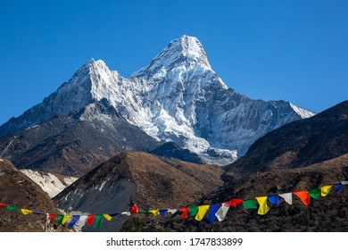 Ama Dablam is a mountain in the eastern Himalayan range of Province No. 1, Nepal. The main peak is 6,812 metres, the lower western peak is 6,170 metres. Wikipedia