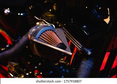 Resistencia cero del filtro de aire. Nueva motocicleta con motor refrigerado por aire, filtro de resistencia cero para motor de motocicleta