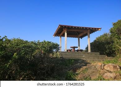 Scenery of Sampou Coast Observatory in Miyazaki Prefecture,Japan