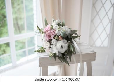 Wedding flowers bouquet for a bride