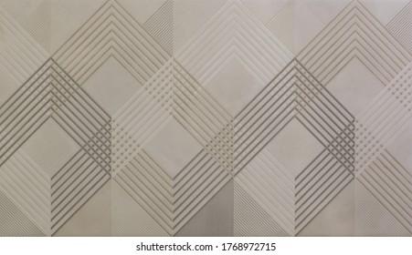 Keramikfliese mit abstraktem Mosaik geometrisches Muster