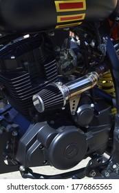 Luchtfilter van aangepaste motorfiets