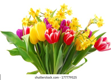 tulip and daffodil bouquet