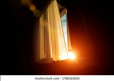 window wallpaper patter background poster sunset orange sun glare lighting scenic view from interior room space
