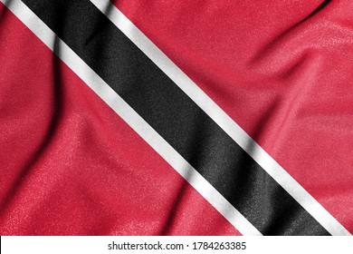 Nationalflagge von Trinidad und Tobago. Das Hauptsymbol eines unabhängigen Landes. Flagge von Trinidad und Tobago. Ein Attribut der Größe eines demokratischen Staates.