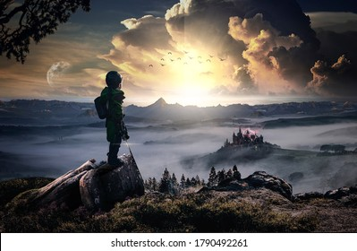 The revenge of a heroic and brave child against an evil castle (