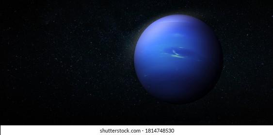 Neptun im Raum. Neptun Planet für Tapeten. Elemente dieses Bildes von der NASA eingerichtet