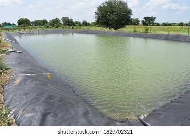 Artificial lake or pond made for agriculture and fish farming.