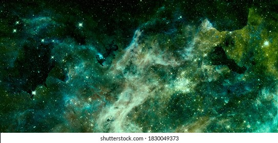 Nebula and galaxy. Deep space. Elements of this image furnished by NASA.