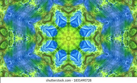 抽象的な万華鏡の背景。美しい万華鏡のパターン。マルチカラーモザイクテクスチャ。ユニークな万華鏡のデザイン。