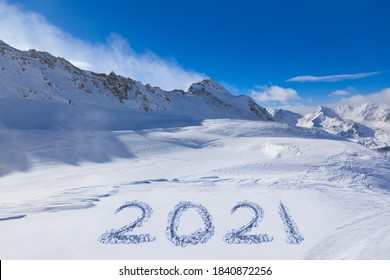 2021 on snow at mountains - Hochgurgl Austria - nature and sport background