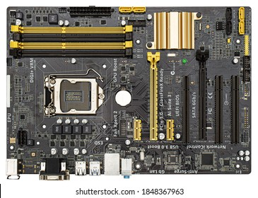 Сomputer motherboard board Asus B85-Plus lga 1150,  isolated on white background
