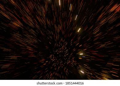 黒の背景に抽象的な線や粒子を動かします。キャンドルライト、花火