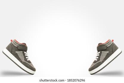 Laufleder Sportschuhe.Pair of Mode bunte Sneaker Schuh.hipster Schuhe.Fashion braun Sneaker.Sneakers Schuhe für das Training.