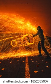 Dr Strance. Conceptual photo shot with steel wool. Long exposure photography.