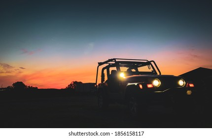 Jeep Top Off Sunset Vibes