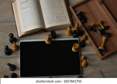 Live schaaktoernooien. Speel online schaaktoernooien. Bibliotheek. Boek en internet een van de eerste ervaringen met het leren van het schaakspel. Vintage stukken. Strategie, zaken.