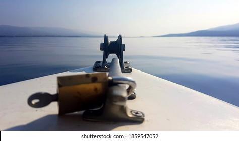 boat ride on blue sea