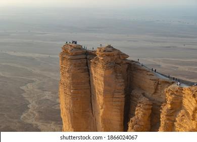 Rand der Welt Böschung Touristengebiet in der Nähe von Riad, Saudi-Arabien