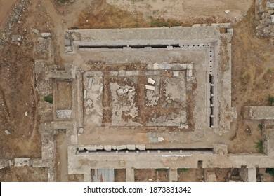 Vista aérea de los antiguos baños públicos de Tralleis, ubicados en la actual Aydin, Turquía.