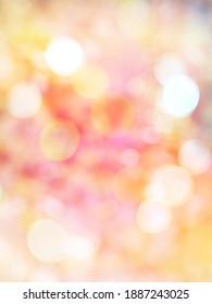 Defocused, Bokeh Background in Brilliant Colors, Missed focus of light