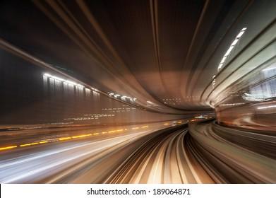 Bewegungsunschärfe-Zugstraßenhintergrund