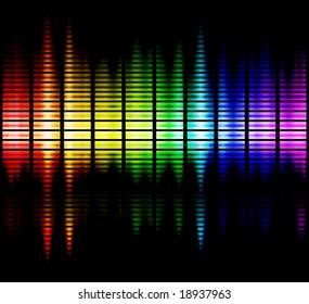 viewable colours frequencies