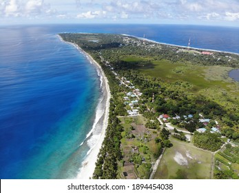 Aerial Photo of Local island in maldives. Fuvahmulah