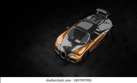 Erstaunlicher Bugatti Veyron von oben