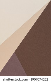 Color papers geometry vertical composition background with beige and brown color tones