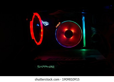 Gaming Computer, AMD System Asus Rog Strix motherboard