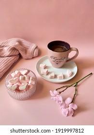 Romantic Choco Drink Hearts Marshmello
