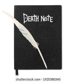 Death Note - Black Notebook With Feather Pen
