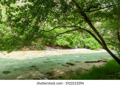 River Acheron, the mythical river of the ancient Greeks, where Charon (Death) used to lead the souls of the dead to Hades, the Greeks' Underworld. River is near Preveza city, in Epirus region, Greece