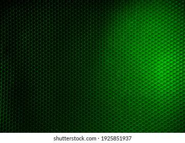 Dark green honeycomb background for banner
