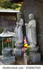 長谷寺の子供たちの守護神、地蔵菩薩。鎌倉、日本