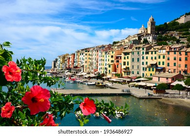 malerischer Hafen von Porto Venere, italienische Riviera, Ligurien,.