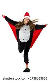 Full length portrait of girl in bat costume