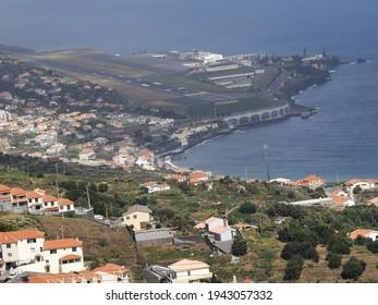 View of Madeira International Airport, Cristiano Ronaldo. Santa Cruz, Madeira Island, Portugal