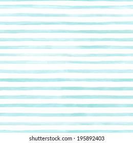 白い背景の水彩画の青い縞