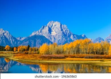 increíbles montañas en el Parque Nacional Grand Teton