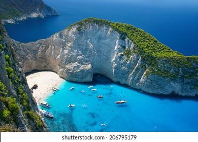 Erstaunlicher Navagio-Strand in Zakynthos-Insel, Griechenland