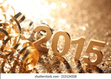 Neujahrsdekoration, Nahaufnahme auf 2015.
