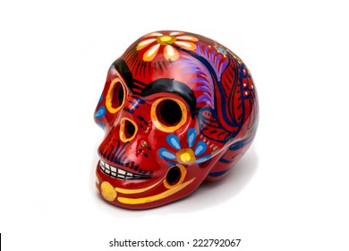 Skull painted isolated